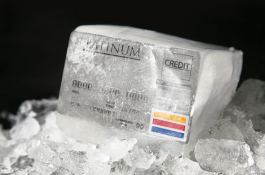frozen block of credit cards